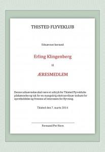 Æresmedlem Erling Klingenberg